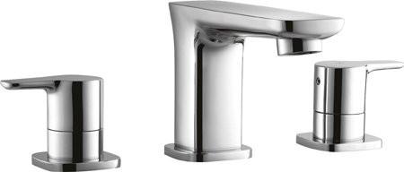 Смеситель для раковины на три отверстия с донным клапаном хром, ручки хром Cezares Tesoro TESORO-BLS-01 смеситель для ванны cezares tesoro tesoro f bvd5 01