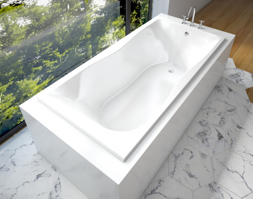 Ванна из литого мрамора 170х80 см Эстет Бета FP00001321 ванна из литого мрамора эстет грация 170x94 см левая асимметричная на ножках фр 00000629