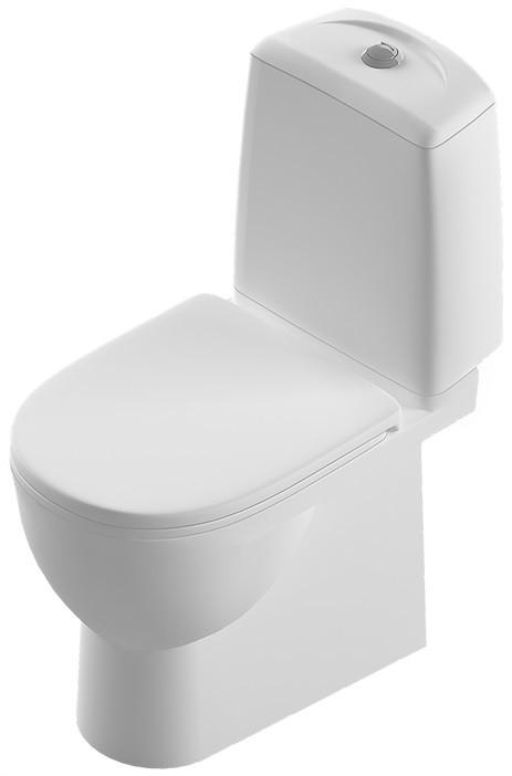Фото - Унитаз-компакт с сиденьем дюропласт Sanita Luxe Best SL900302 унитаз компакт sanita luxe best lux 2ой смыв с сиденьем sl900302 d