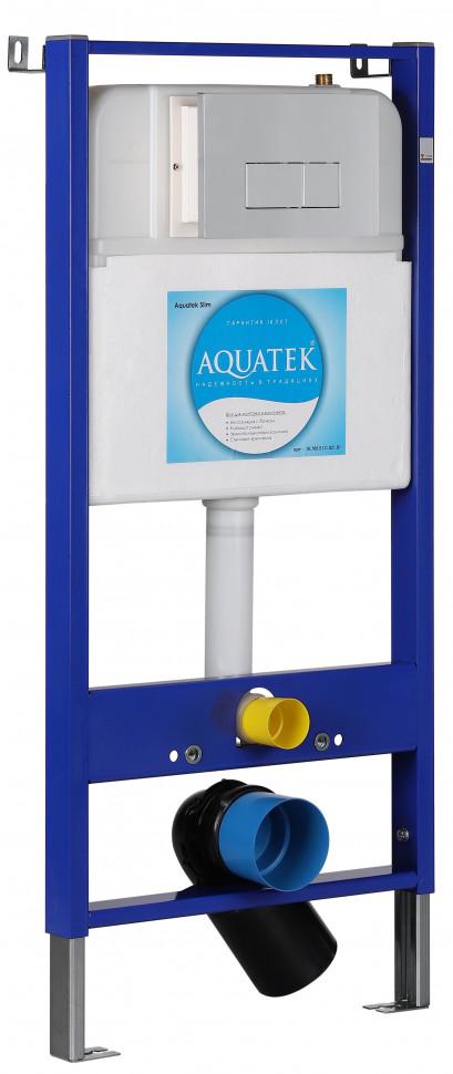 Монтажная рама для подвесного унитаза 4 в 1 SET Aquatek Slim 10.705.51C.021.81 монтажная рама duofix для подвесного унитаза для инвалидов
