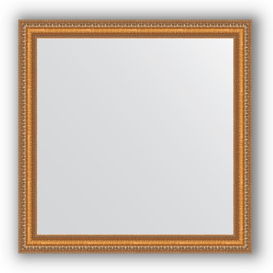Зеркало 75х75 см золотые бусы на бронзе Evoform Definite BY 3234 зеркало evoform definite 155х75 золотые бусы на бронзе