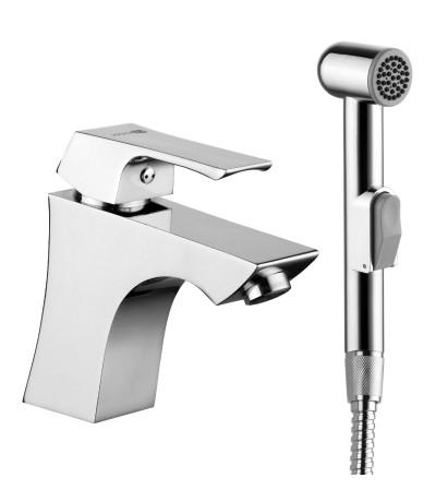 Смеситель для умывальника с гигиеническим душем Lemark Unit LM4516C стоимость