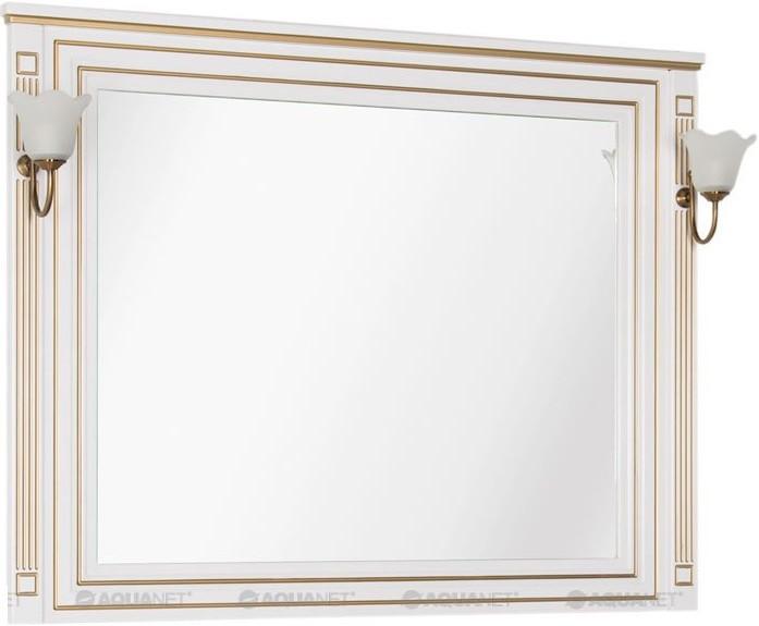 Зеркало 120х96,3 см белый золотая патина Aquanet Паола 00186105 зеркало 120х96 3 см белый золотая патина aquanet паола 00186105