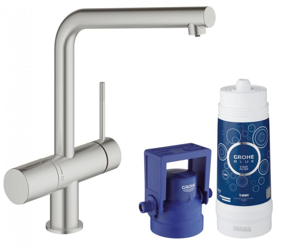 Смеситель для мойки с функцией очистки водопроводной воды Grohe Blue Minta Pure 31345DC2 фото