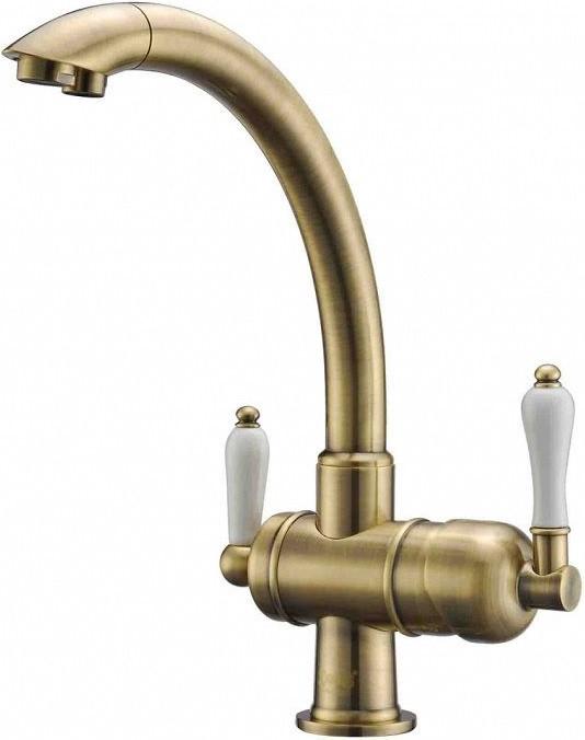 Смеситель для кухни с подключением к фильтру Zorg Sanitary ZR 327 YF BR