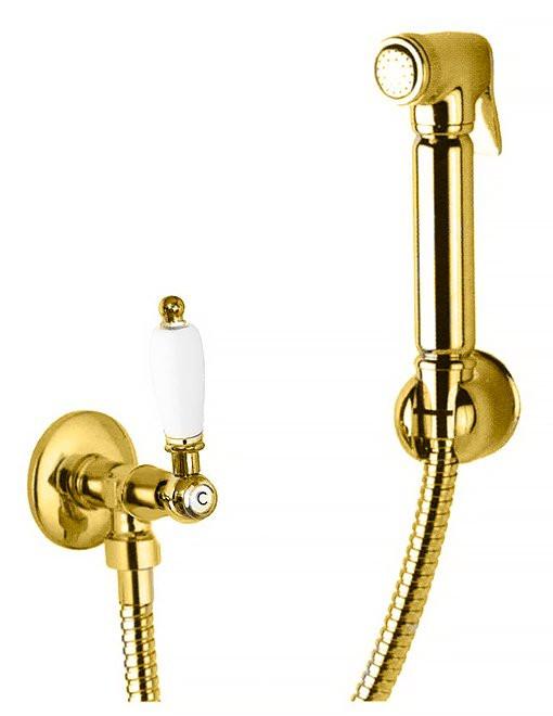 Гигиенический набор золото 24 карат, ручка белая Cezares First FIRST-KS-03/24-Bi