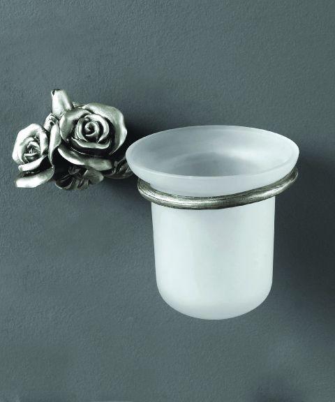 Ершик для унитаза серебро Art&Max Rose AM-0911-T