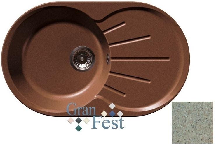 Кухонная мойка песочный GranFest Rondo GF-R750L фото