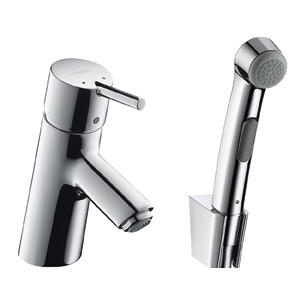 Фото - Смеситель для раковины с гигиеническим душем Hansgrohe Talis S 32120000 смеситель для раковины kaiser sonat 34088 4 с гигиеническим душем белый
