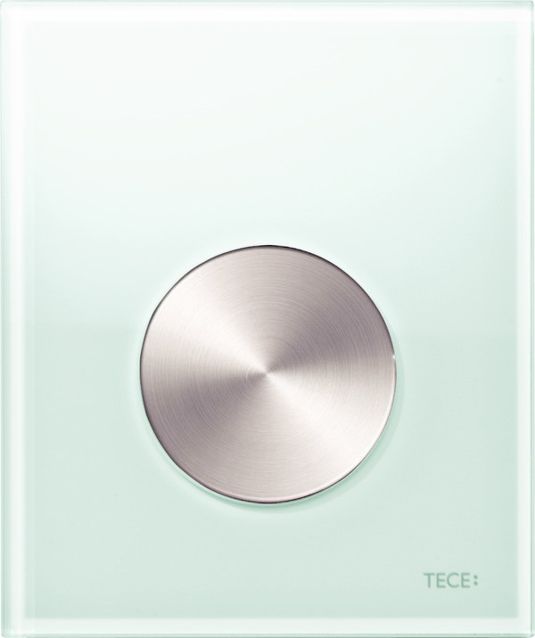 Смывная клавиша для писсуара TECE TECEloop мятный зеленый/нержавеющая сталь с покрытием против отпечатков пальцев 9242662 смывная клавиша для писсуара tece teceloop мятный зеленый белый 9242651