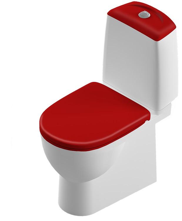 Унитаз-компакт с сиденьем микролифт Sanita Luxe Best Color Motion SL900307 унитаз компакт sanita luxe classic luxe сиденье термопласт cscslcc01070611 sl900101