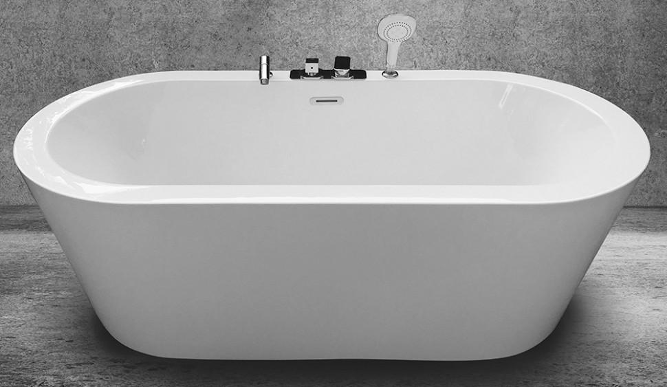 Акриловая ванна 170х80 см Abber AB9213C акриловая ванна 170х80 см gemy g9231b