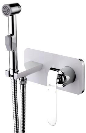 Встраиваемый смеситель с гигиеническим душем Lemark Melange LM4919CW смеситель для душа lemark brava с гигиеническим душем встраиваемый lm4719g