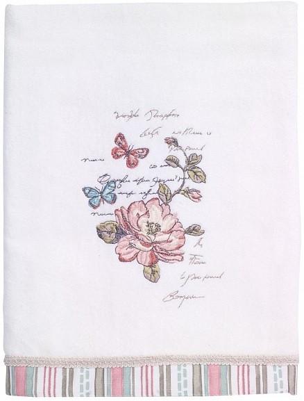 Полотенце банное 127х69 см Avanti Butterfly Garden 038821WHT