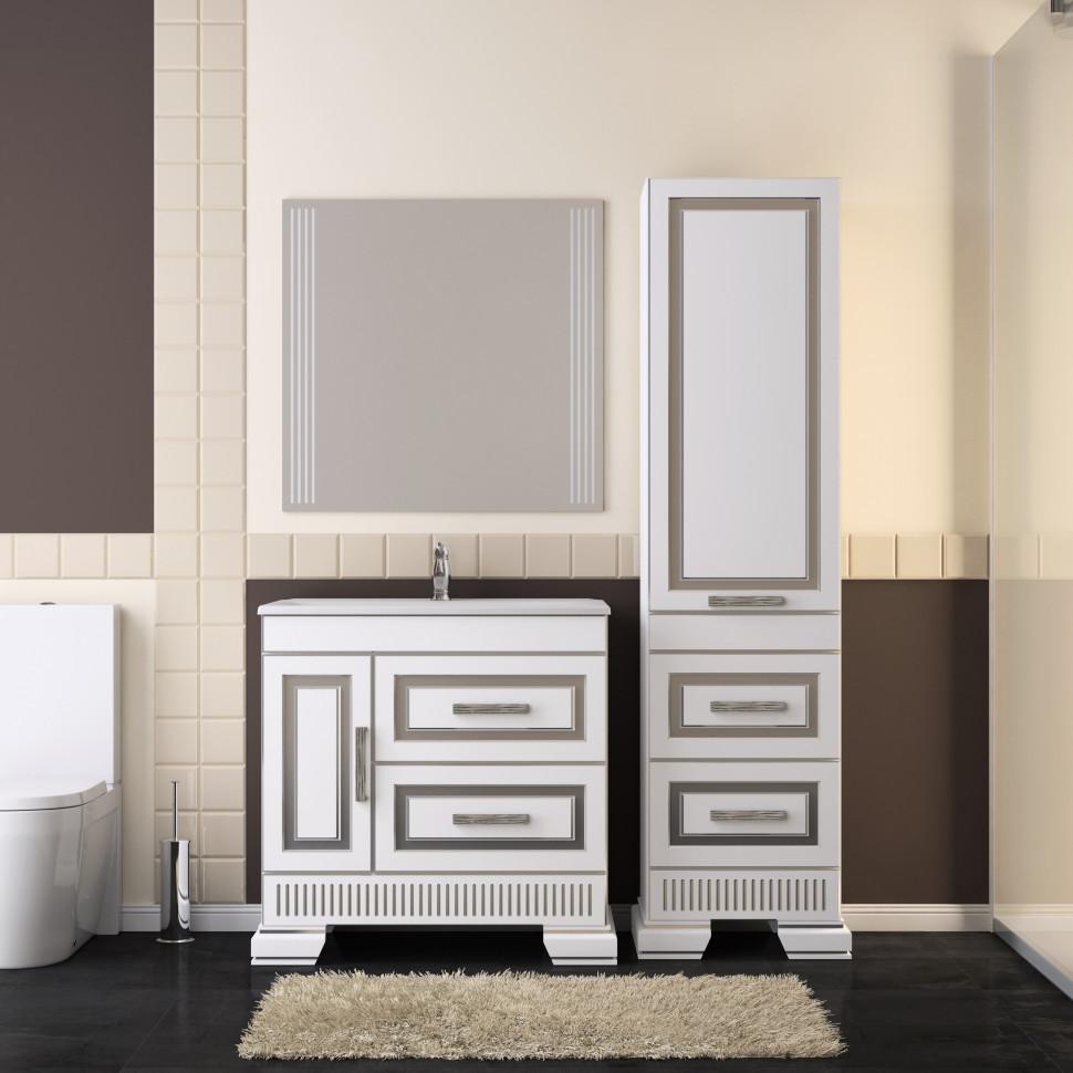 Комплект мебели белый серебряная патина 83 см Opadiris Оникс ONIX80KOMAG комплект мебели opadiris оникс z0000005573 z0000004912 10 010 01000 001