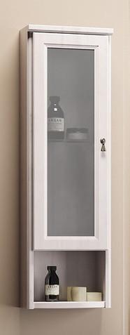 Шкаф одностворчатый подвесной белый Opadiris Клио Z0000002505