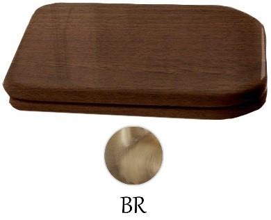 Сиденье для унитаза с микролифтом орех/бронза Kerasan Waldorf 418640noce/br