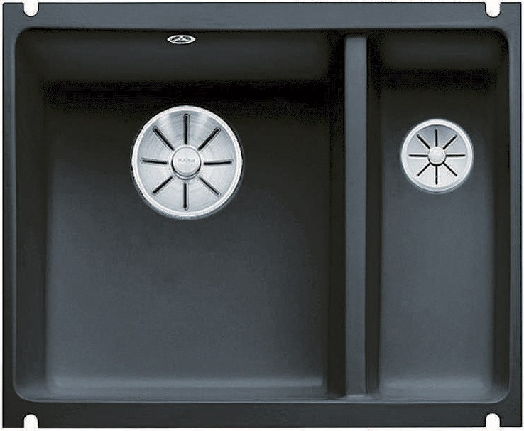 Кухонная мойка Blanco Subline 350/150-U InFino черный 523747 blanco subline 350 150 u серый алюминий