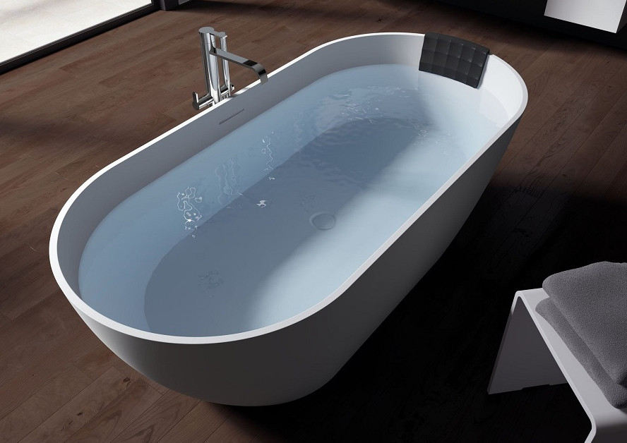 Ванна из литого мрамора 170х80 см Riho Bilbao BS1000500000000 все цены