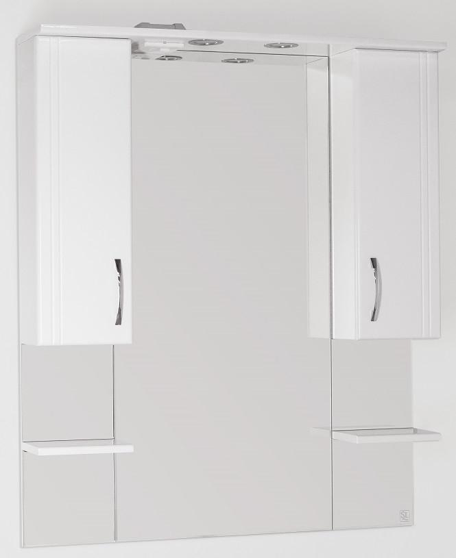 Фото - Зеркальный шкаф 90х109,6 см белый глянец Style Line Энигма LC-00000174 зеркальный шкаф 75х83 см белый глянец style line олеандр 2 lc 00000051