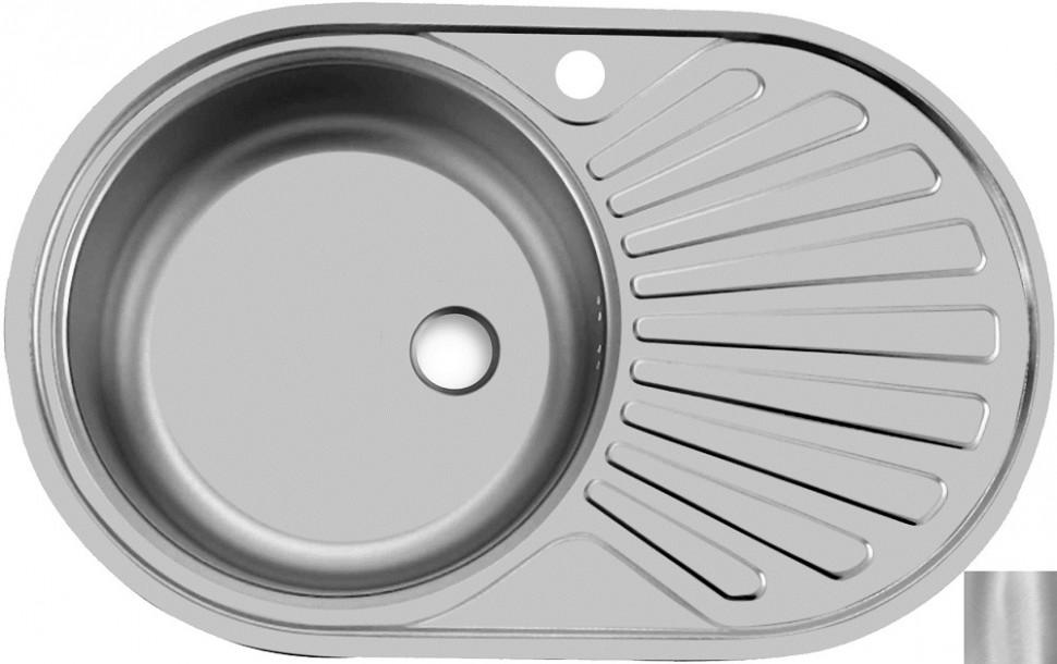 Кухонная мойка матовая сталь Ukinox Фаворит FAM770.480 -GT5K 2L