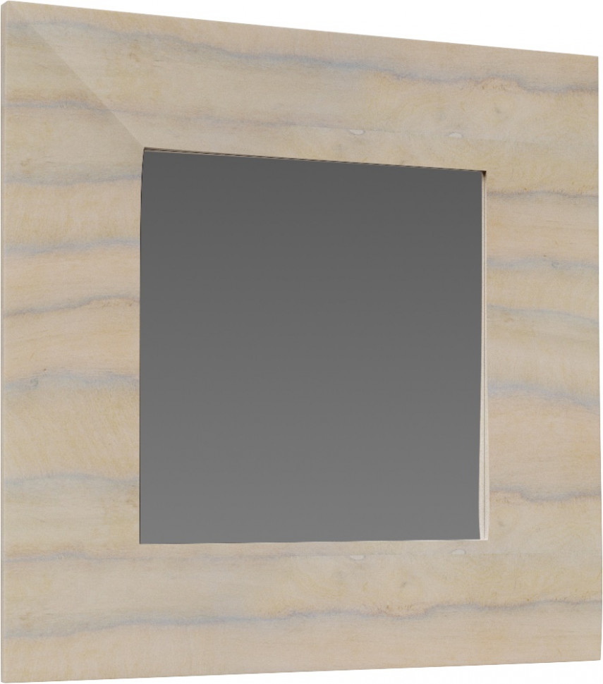 Зеркало 100х100 см светлое дерево Clarberg Papyrus Wood Pap-w.02.10/LIGHT тумба под раковину aqwella clarberg papyrus wood 100 pap w 01 10 light подвесная светлое дерево