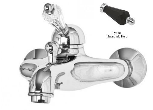 Смеситель для ванны хром, ручка Swarovski Nero Cezares Vintage VINTAGE-VM-01-Sw-N недорого