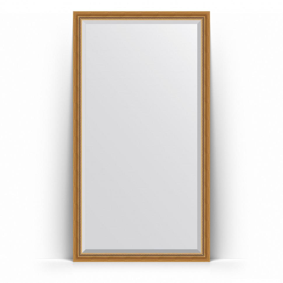 Зеркало напольное 108х198 см состаренное золото с плетением Evoform Exclusive Floor BY 6141