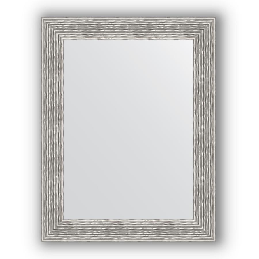 Зеркало 70х90 см волна хром Evoform Definite BY 3185 зеркало 80х80 см волна хром evoform definite by 3249