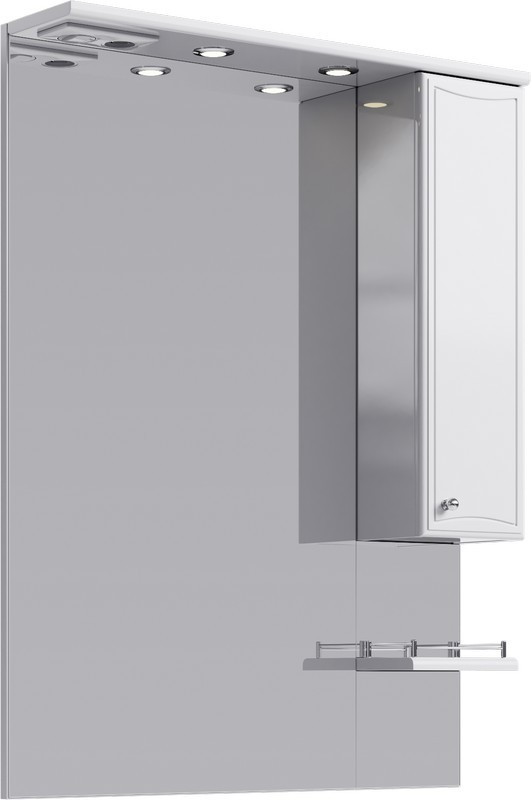 Зеркальный шкаф 80х108 см с подсветкой Aqwella Barcelona Ba.02.08 зеркальный шкаф bellezza миа 85 с подсветкой l белый
