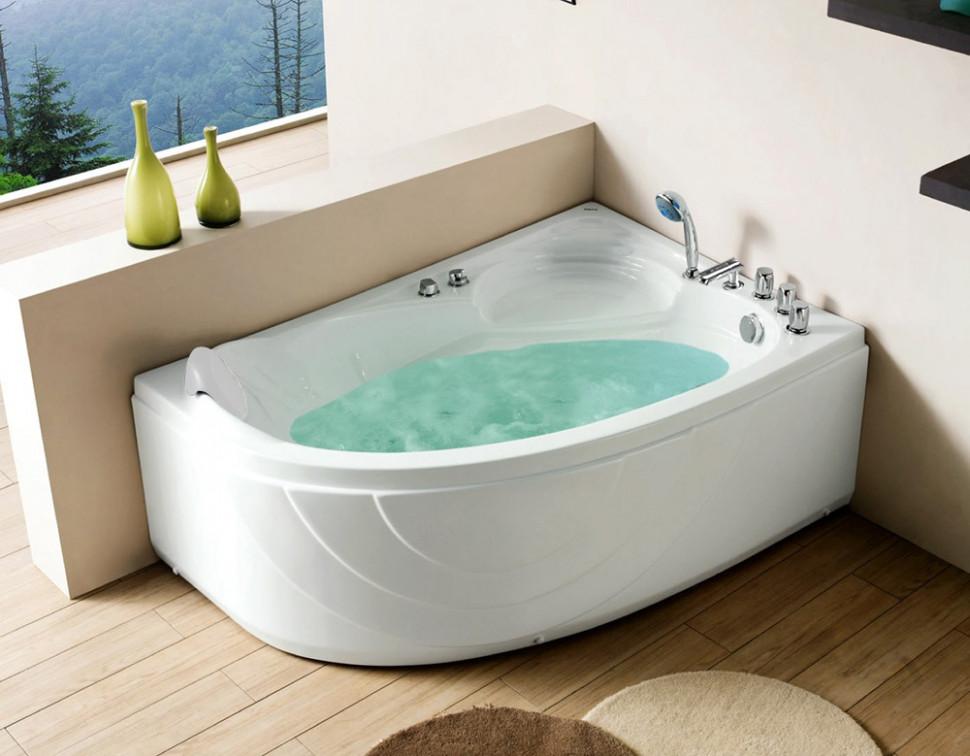 Акриловая гидромассажная ванна 150х100 см R Gemy G9009B R акриловая ванна gemy g9052 ii k r