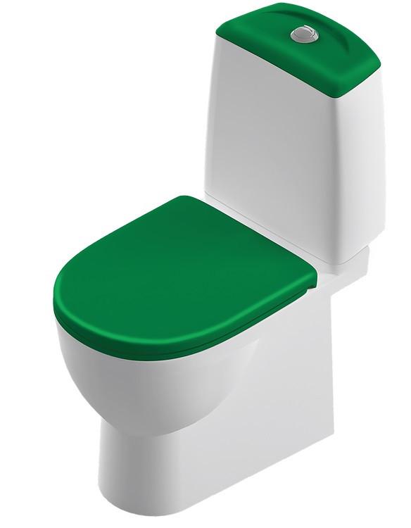 Унитаз-компакт с сиденьем микролифт Sanita Luxe Best Color Motion SL900308 унитаз компакт с сиденьем микролифт sanita luxe best sl900303