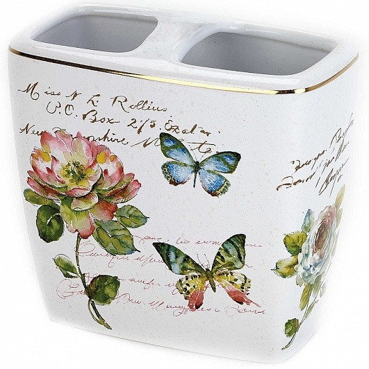 цена на Держатель зубных щеток Avanti Butterfly Garden 13882B
