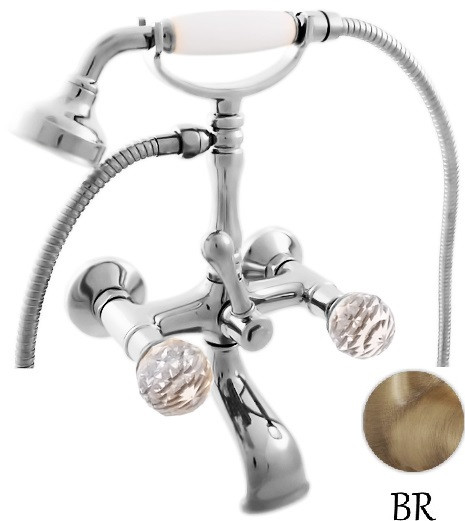 Смеситель для ванны Rav Slezak BRILLIANCE160.5SM смеситель для ванны rav slezak dunai d470 5p