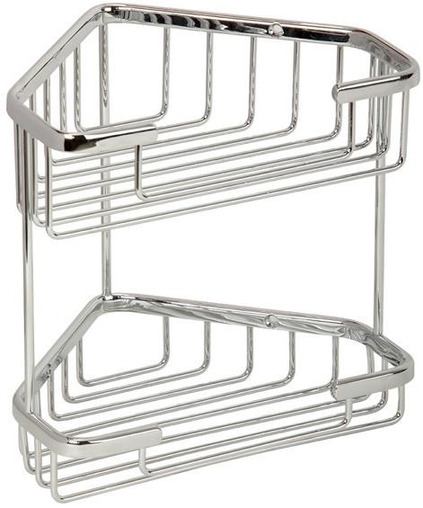 Полка угловая 18,5х18,5 см Veragio Baskets Cromo VR.GFT-9053.CR цена и фото