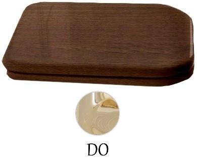 Сиденье для унитаза с микролифтом орех/золото Kerasan Waldorf 418740noce/oro