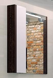 Зеркальный шкаф Брайтон 80 венге Акватон 1A186102BR500 зеркальный шкаф акватон крит 60 венге фасад белый 1a163202kt500