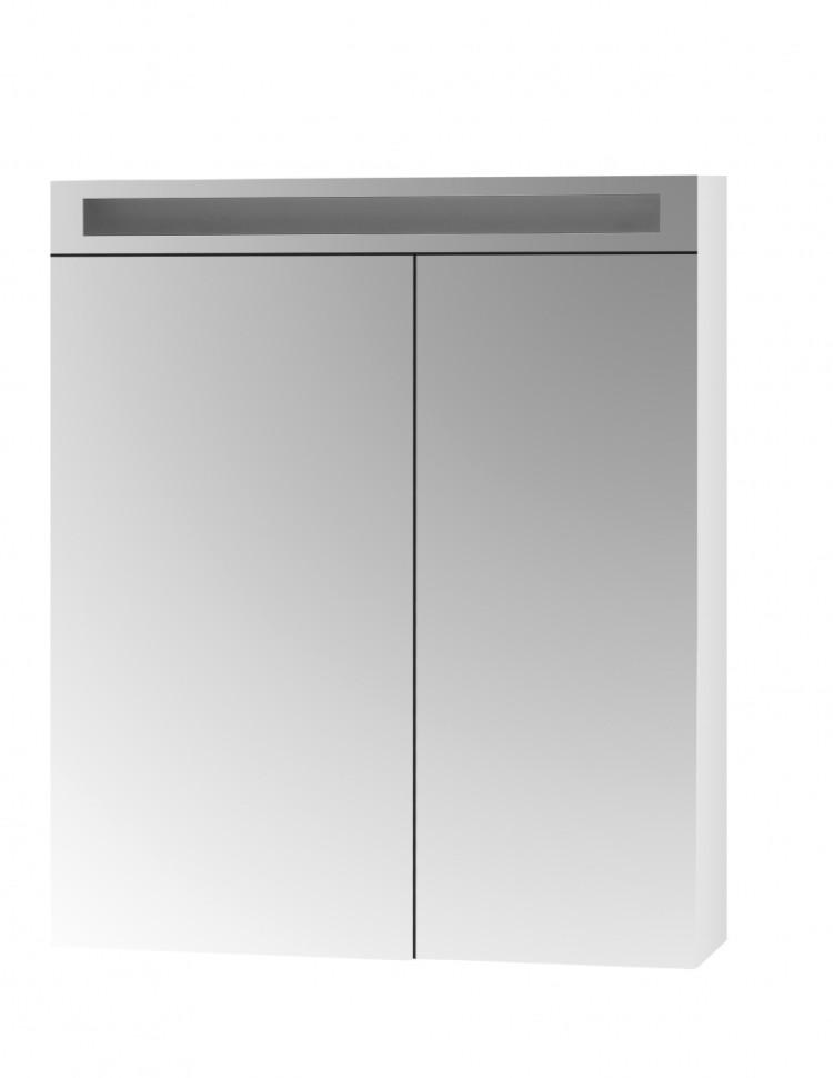 Зеркальный шкаф Dreja Air 70 с Led освещением и розеткой, 2д, (40/30) 69271