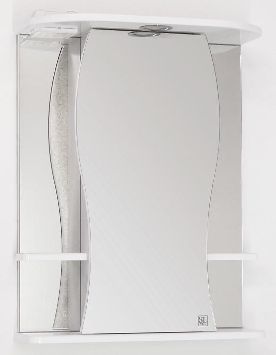 Фото - Зеркальный шкаф 55х73 см белый глянец Style Line Лорена LC-00000120 зеркальный шкаф 60х83 см белый глянец style line жасмин lc 00000040