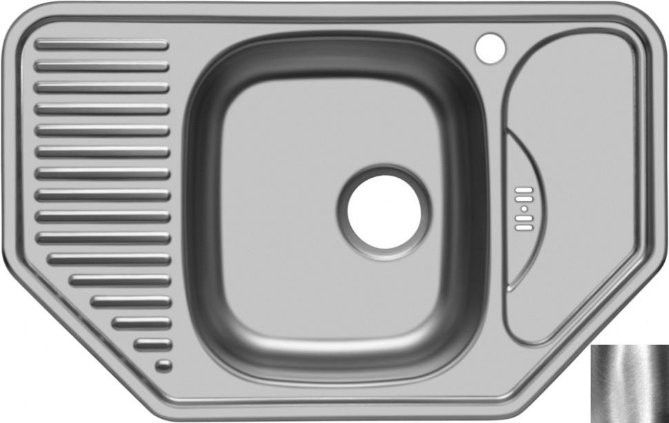 Кухонная мойка полированная сталь Ukinox Комфорт COP777.488 -GW8K 2C кухонная мойка полированная сталь ukinox фаворит fap770 480 gw8k 2l