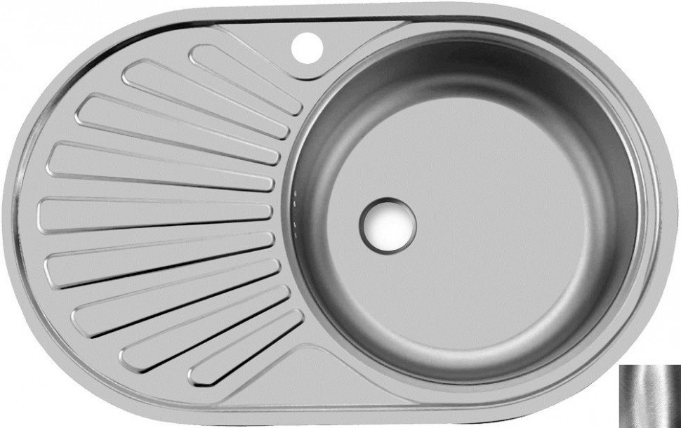 Кухонная мойка полированная сталь Ukinox Фаворит FAP770.480 -GT6K 1R ukinox fad 760 470 gt6k l