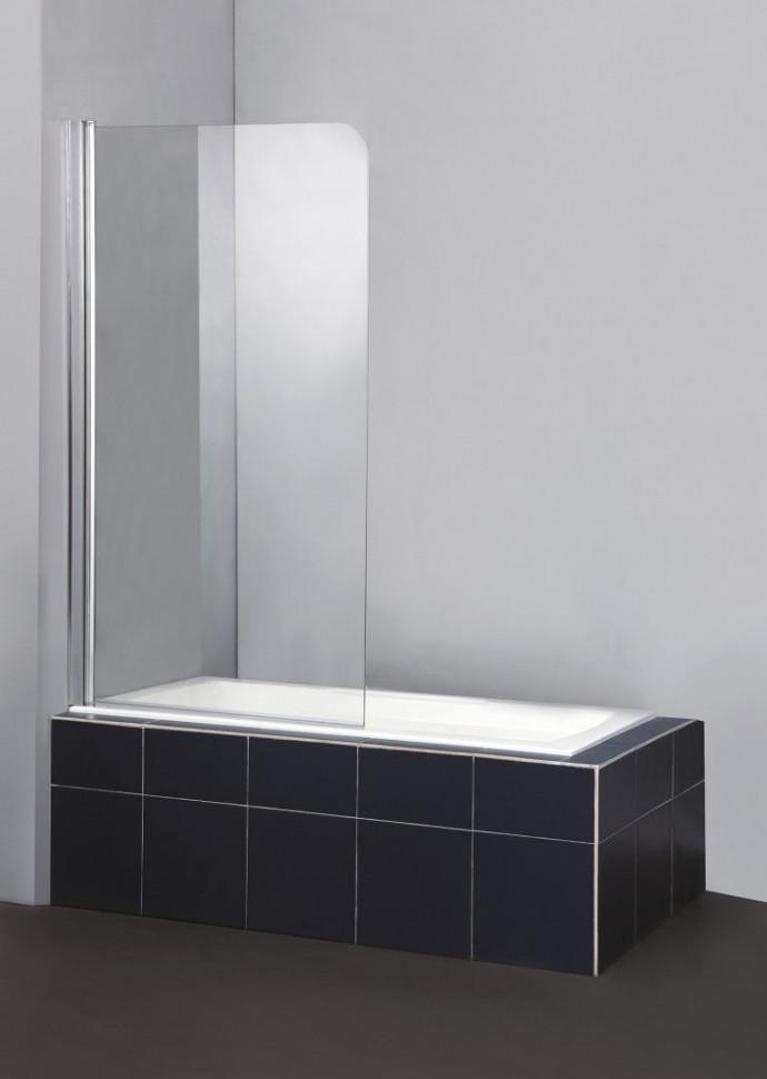 все цены на Шторка для ванны BelBagno Sela 80 см текстурное стекло SELA-V-1-80/140-Ch-Cr-L онлайн