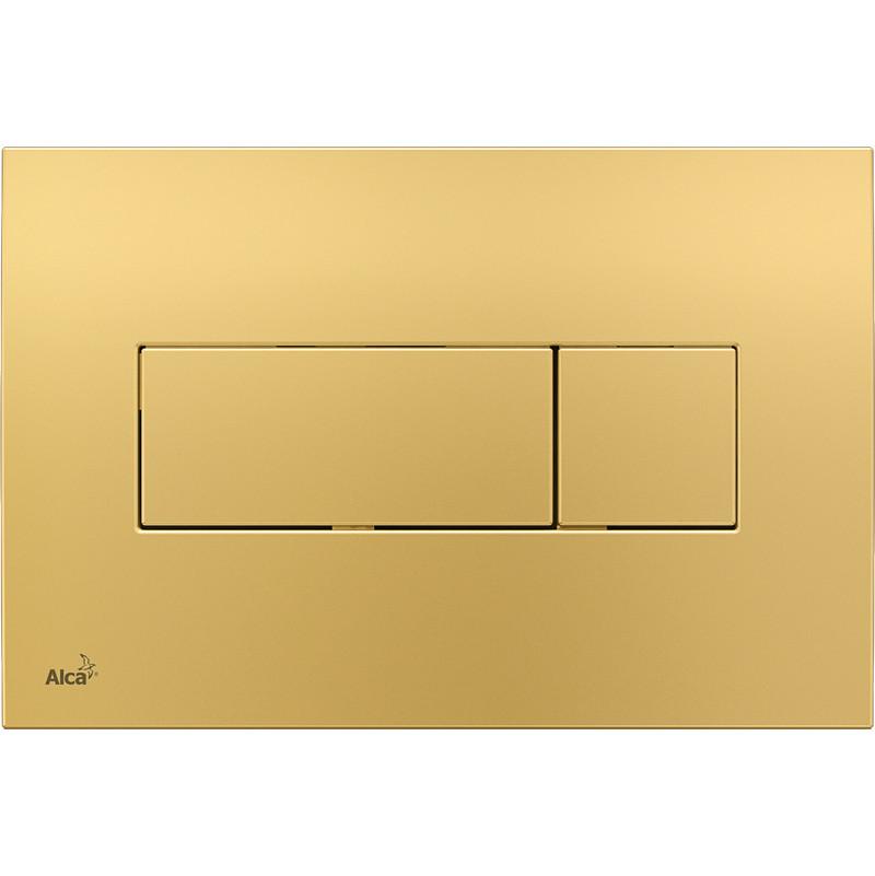 Смывная клавиша золото для двойного смыва AlcaPlast M375