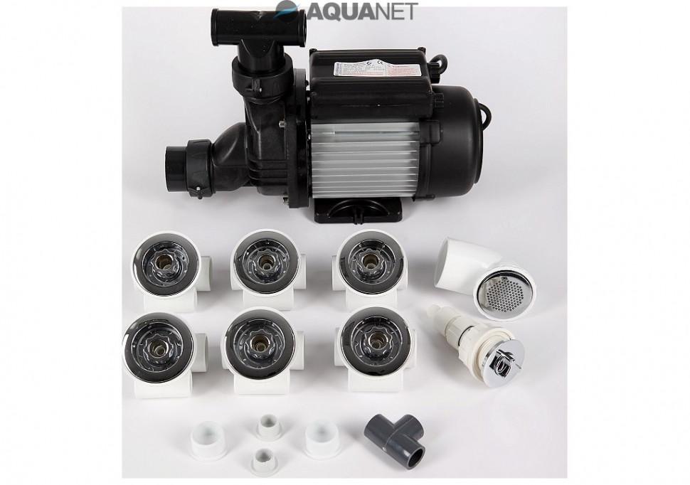 Комплект гидромассажа 6 форсунок Aquanet 00172869 аксессуар gefest комплект форсунок 6 шт 1500 3500