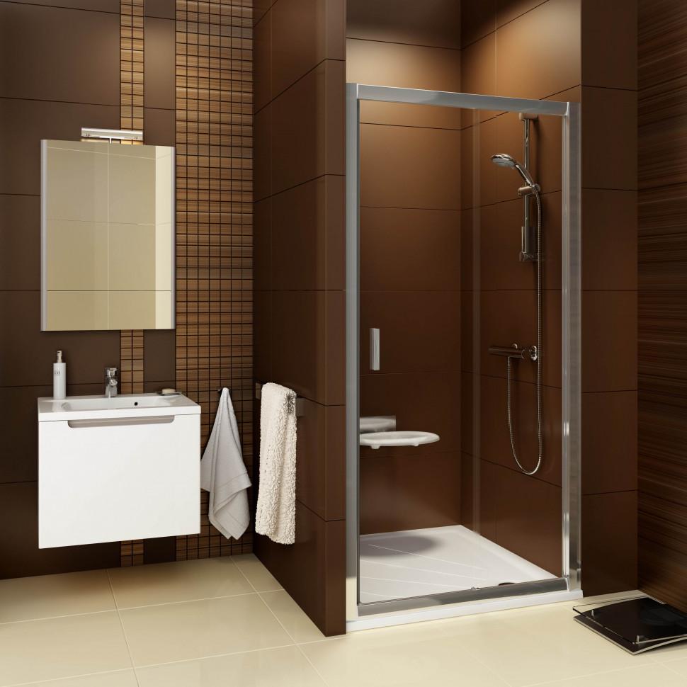 лучшая цена Душевая раздвижная дверь Ravak Blix BLDP2 100 блестящий Transparent 0PVA0C00Z1