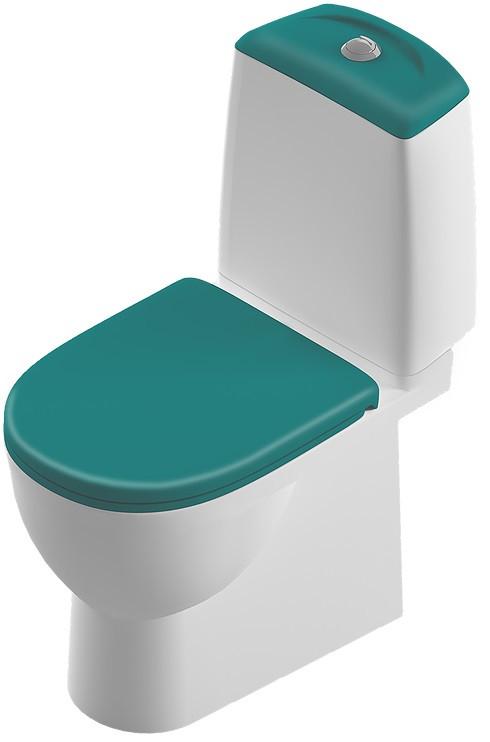 Унитаз-компакт с сиденьем микролифт Sanita Luxe Best Color Motion SL900306 унитаз компакт с сиденьем микролифт sanita luxe best sl900303