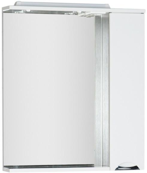 Зеркальный шкаф 88,6х87 см с подсветкой белый/венге Aquanet Гретта 00173993 зеркальный шкаф 90х87 см с подсветкой венге aquanet донна 00169179