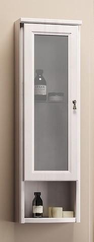 Шкаф одностворчатый подвесной белый матовое стекло Opadiris Клио Z0000004980