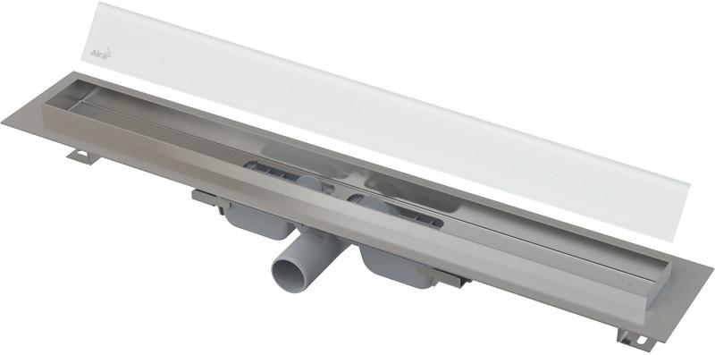 Душевой канал 844 мм белый AlcaPlast APZ106 Glass APZ106-850 + GL1200-850 душевой канал 744 мм alcaplast apz106 apz106 750