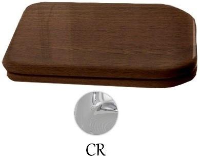 Сиденье для унитаза с микролифтом орех/хром Kerasan Waldorf 418840noce/cr